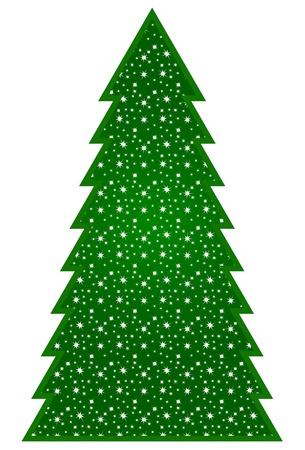 Country Christmas Tree Ilustracja
