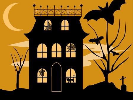 Halloween House Vector