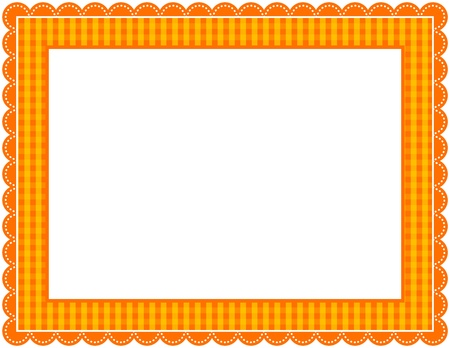 Halloween Gingham Frame Stock Vector - 9919693