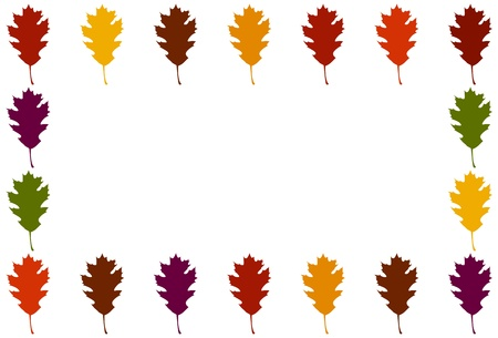 Oak Leaf border - horizontal Illustration