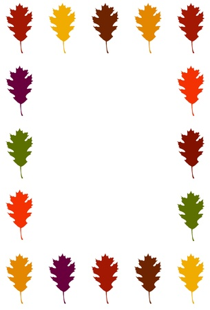 Oak Leaf border - vertical Stock Vector - 9919291