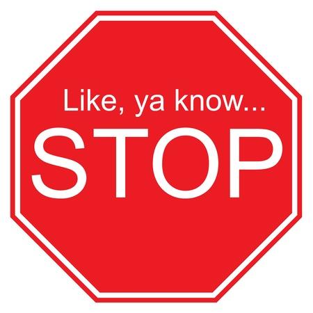 Como ya saben, señal de Stop Foto de archivo - 9917748