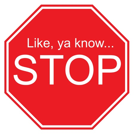 Like ya know, Stop Sign Stock Vector - 9917748