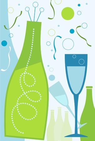popping cork: Celebration