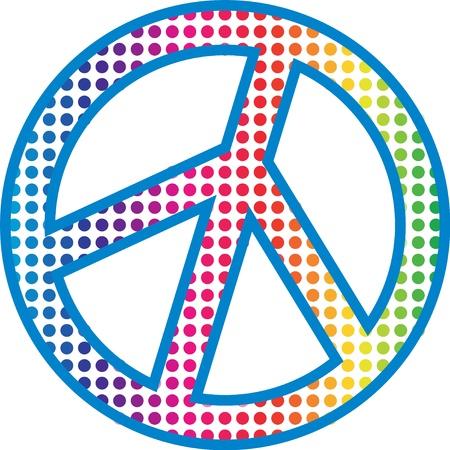 siebziger jahre: Peace-Zeichen Illustration