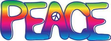 Paz Texto signo de la paz Foto de archivo - 9917741