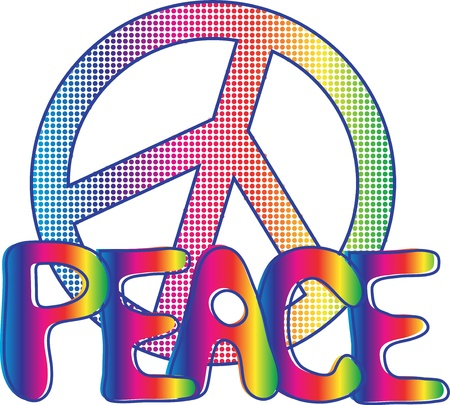 peace sign: Peace Text with peace sign