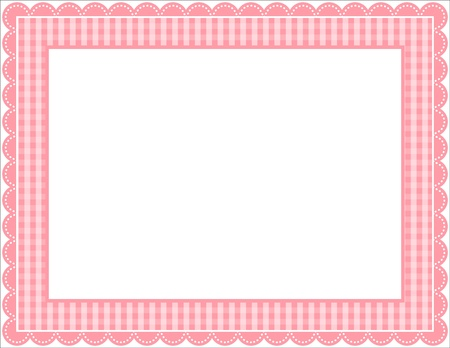 Gingham Frame Vector