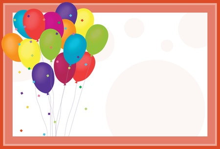 birthday invitation: Birthday Balloons