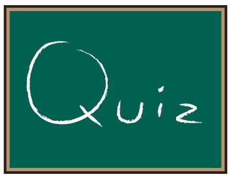 kwis: Quiz tekst op Chalkboard Stock Illustratie