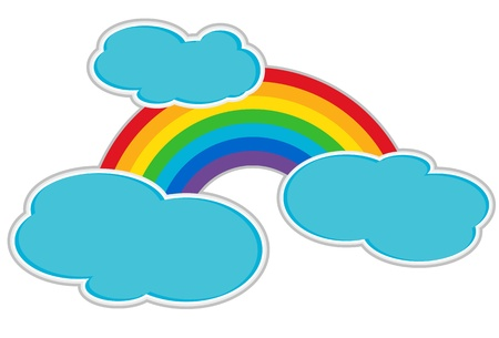 raining background: Rainbow and Clouds