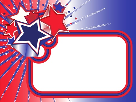 Red white blue stars banner Vector
