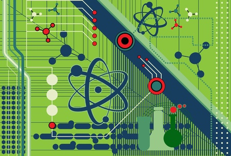 computer science: Science and Technology Illustration