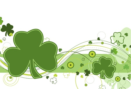 three leafed: Shamrock breeze Illustration