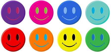 caras felices: Carita feliz cl�sico Vectores