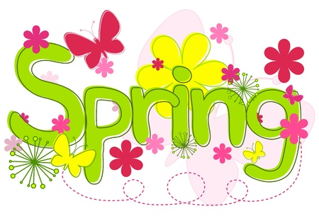Spring Text Stock Vector - 9919628