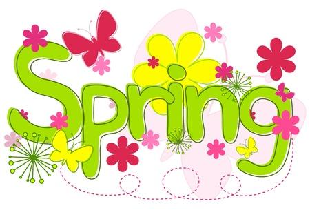 Texto de primavera Foto de archivo - 9919628
