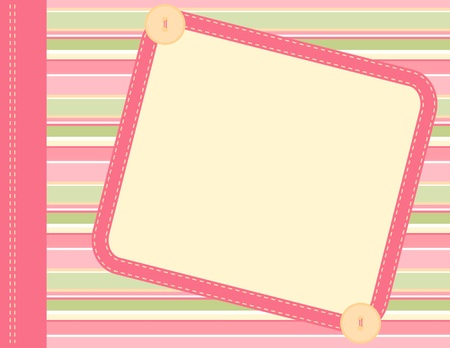 Scrapbook frame Vector