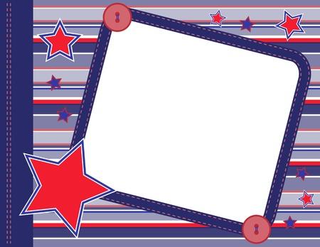 Plakboekkader met sterren Stock Illustratie