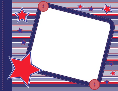 Scrapbook frame with stars Ilustrace