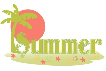 Summer text Ilustrace