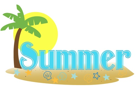 Summer text Illustration