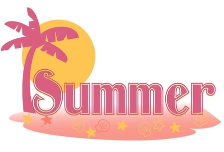 Summer text Illustration