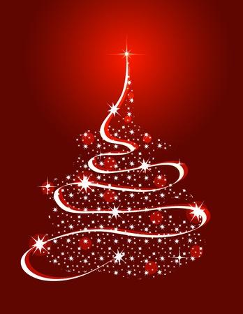 Rbol de Navidad con estrellas Foto de archivo - 9919690