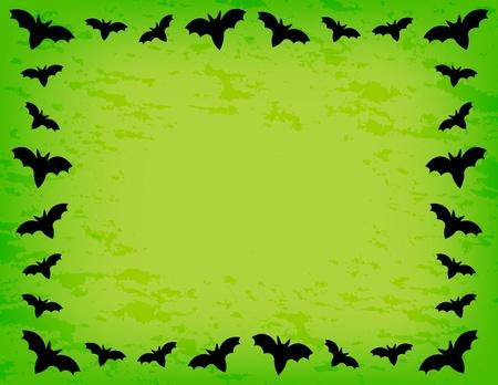 halloween background: Bat Frame