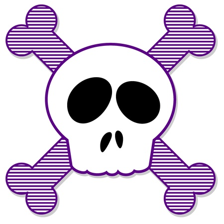 crossbones: Skull and Crossbones Illustration