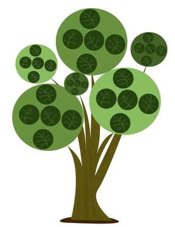 Tree - Stylized cartoon illustration of a tree