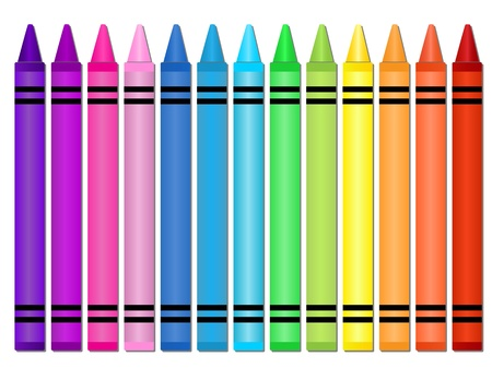 grammar: Crayons Illustration