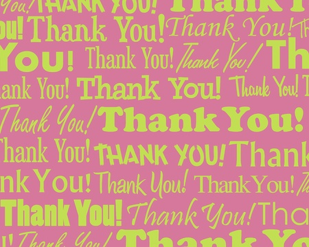 Thank you - Grouped collection of different Thank You text Vector