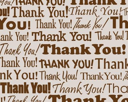 dank u: Thank You - Gegroepeerd verzameling van verschillende Thank You tekst Stock Illustratie