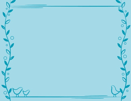 Vine Bird Frame
