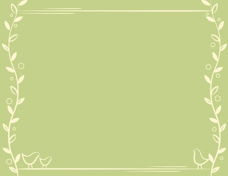 Vine Bird Frame Vector