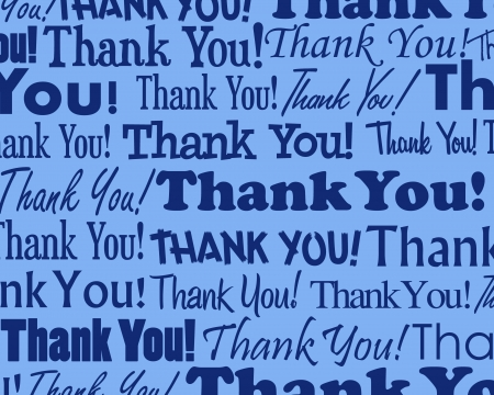 blue you: Thank You - Grouped collection of different Thank You text
