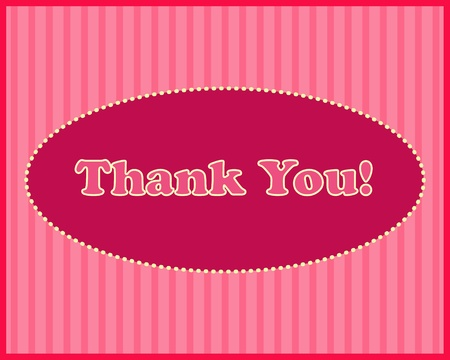 Thank You  - Thank You text in oval frame on stripped background Stock Vector - 13074470