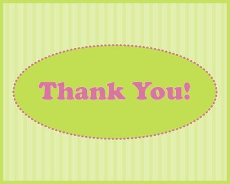 Merci - Thank You texte dans un cadre ovale sur fond dépouillé Vecteurs