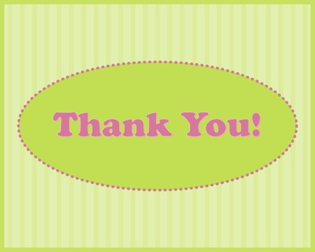 Thank You  - Thank You text in oval frame on stripped background Stok Fotoğraf - 13074468