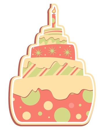 cupcake illustration: Layered Cake