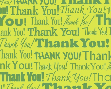 Thank You - Grouped collection of different Thank You text Stock Illustratie