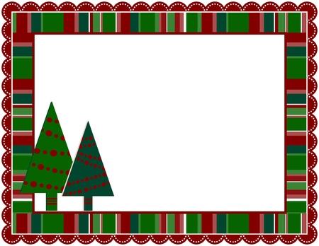 festonati: Cornice di Natale Stripped