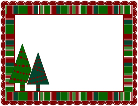 Christmas Stripped Frame Vettoriali