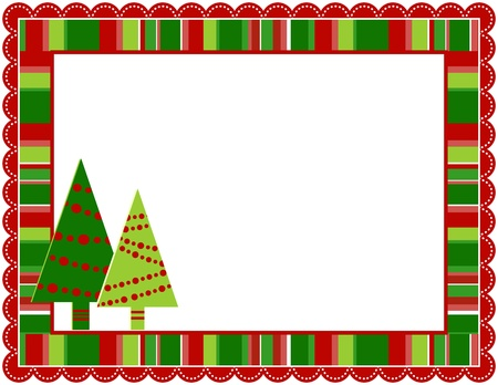 Christmas Stripped Frame Stock Vector - 15793200