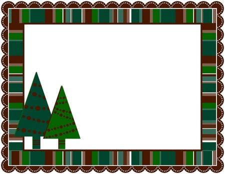 Christmas Stripped Frame 일러스트