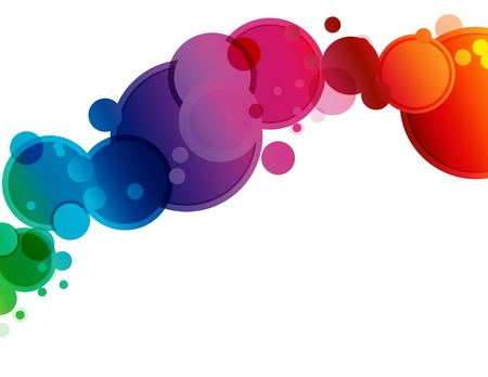 fluid: Abstract Spectrum Circle Background