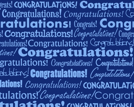 background: Congratulations - Grouped collection of different Congratulations text