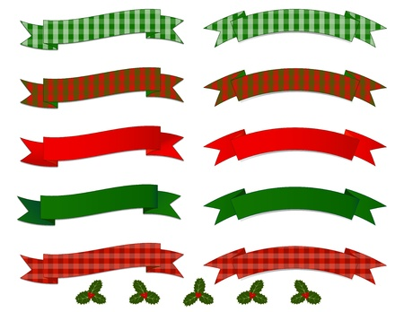 chequered ribbon: Christmas Banner Collection