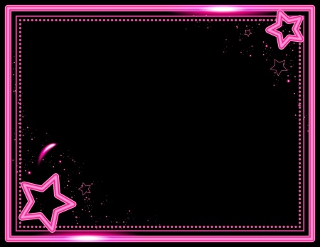 neon party: Neon Star Frame